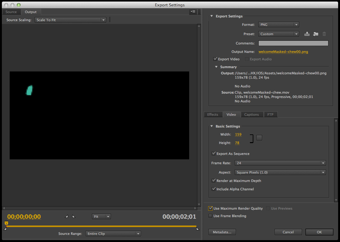 Tutorial Image 4 - Adobe Media Encoder Export Settings